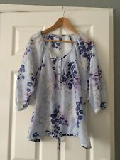 Ladies Marks And Spencer Indigo Collection Top Size 20