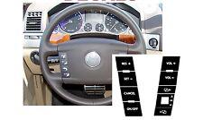 VW Volkswagen Touareg botón del volante Reparación Sticker Decal