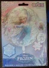 "Two Frozen Disney Elsa 16"" Clear Orbz Balloons Birthday Party Revised"