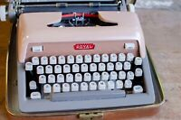 1960 Vintage Royal Futura Pink Portable Typewriter Working w Case
