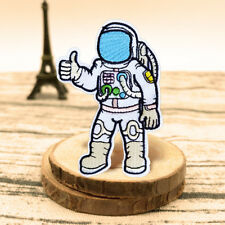 Outer Space Astronaut Patch Embroidery Sew On Iron On Badge Fabric Applique Gift