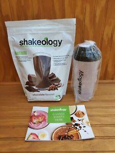 Shakeology Vegan Chocolate 30 Day Supply Bag Beachbody Shake 06/22 w/Shaker cup
