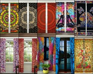 Curtain Small Door Window Drape Valance Cotton Fabric Wall Hanging Indian Ethnic