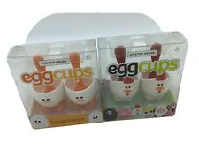 Set 4 novelty Egg Cups Chicken/duck Bnib