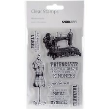 """KC - Clear Background Stamp 4""""X6"""" - Mademoiselle"""