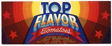 TOP FLAVOR Brand, Fremont California *An Original Tomato Crate Label* A28