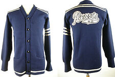Vintage 40s 50s Englewood Varsity School Sweater Cardigan Usa Fits as M