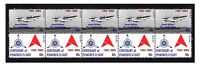 ANSETT AIRLINES CENTENARY FLIGHT STRIP OF 10 MINT VIGNETTE STAMPS, SANDRINGHAM