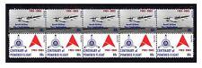 ANSETT AIRLINES CENTENARY FLIGHT STRIP OF 10 MINT VIGNETTE STAMPS, SANDRINGHAM