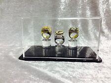 Triple Championship Ring Display Case - 3 Ring Display Case Championship Rings