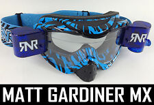 RIP ' N ROLL MOTOCROSS MX ENDURO lunettes de protection hybride RnR NEUF SAUVAGE