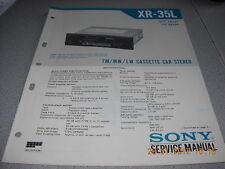 Sony xr-35l FM/MW/LW CASSETTE CAR STEREO service manual