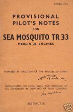de Havilland Mosquito manuals 1940's archive VERY RARE SET WW2 Sea T3 F NF MK40