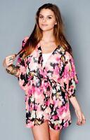 Show Me Your Mumu Kimono Pink Posse Ry Ry Wrap Women's Size S RARE Beach Boho