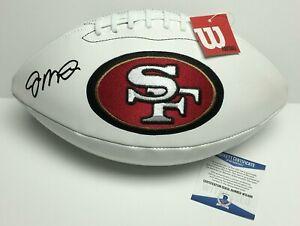 Joe Montana Signed 49ers Logo Football *SB MVP / HOF 2000* BAS W31496