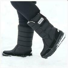 Men's Warm Snow Boots Outdoor  Fur Shoes Waterproof Mid-Calf Moon Boots
