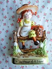 Vintage Glazed American Greetings Holly Hobbie Figurine To The House Of A Friend
