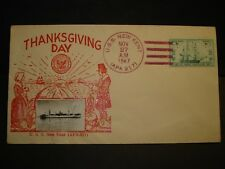 USS NEW KENT APA-217 Naval Cover 1947 THANKSGIVING Photo Cachet