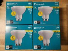 4PK ECOSMART 75-Watt Equiv BR40 Dimmable LED Light Bulb Bright White (8 Bulbs)