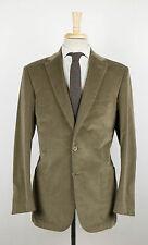 New. BRIONI Winter Brown Corduroy Cotton Blend 2 Button Suit Size 50/40 R $5795