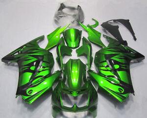 Green Bodywork Fairing Fit For Kawasaki Ninja 250R 2008-2012 ABS Injection Mold