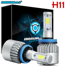 IRONWALL H11 H9 H8 1020W 153000LM CREE LED Headlight Conversion Lamp Bulbs 6000K