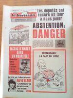 LE HERISSON n°1835 - 1981 - leçon d'amour dans un monastère - Hervé Vilard