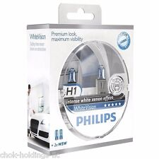 Philips H1 White Vision Headlight Bulbs up to 4300K 12V55W 12258WHVS(Pair+2 W5W)