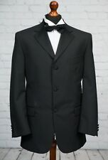 Scott & Taylor Black Tuxedo Dinner Jacket Wool Blend Single Breasted 42R