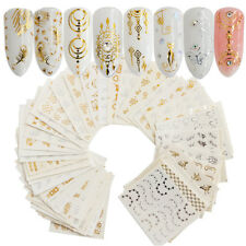 30PC/set Gold/Silver Water Transfer Nail Art Stickers Decal Feather Dreamcatcher
