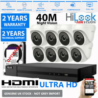Hikvision CCTV HD 1080P 5MP 40M NightVision Outdoor DVR Home Security System Kit