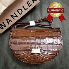 NEW Authentic WANDLER Big ANNA Croc-Effect Leather Belt Bag