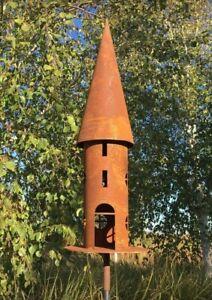 Edelrost Vogelhaus Futterhaus Rost Deko Gartendeko Metall Laterne * H 68 cm *  S