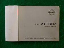 2007 07 Nissan Xterra Owners Manual Near New M17B