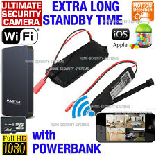 Wireless Security Camera WIFI IP Anti Theft Motion Activated 1080P No Spy Hidden