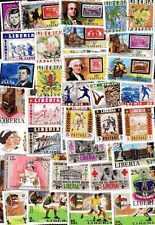 LIBERIA collections de 50 à 500 timbres différents
