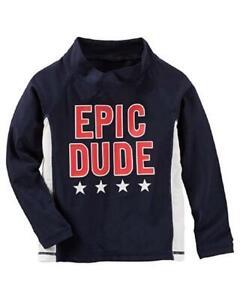 Osh Kosh B'gosh Toddler Boys' L/S Epic Dude Rashguard Top Size 2T 3T 4T