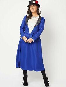 George Femmes Mary Poppins Adulte Costume Déguisement Monde Livre Jour