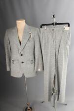 """Vtg Men's Nos 1970s Tweed Suit Sz Small Jacket sz 36 Pants 30"""" 70s Flecked"""