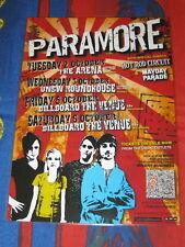 PARAMORE - Australia Tour 2007 RIOT TOUR - SIGNED AUTOGRAPHED - Laminated Poster