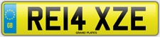 Relax Relaxed number plate RE14 XZE CAR REG FEES PAID RELAXING DRIVE CHILL COMFY