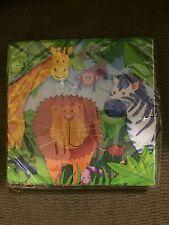 Wild Kingdom Jungle Zoo Animals16 Small Napkins Birthday Party Supply
