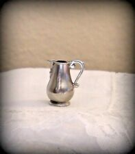 DOLL HOUSE OF MINIATURES, STIEFF WILLIAMSBURG PEWTER TAVERN PITCHER ANTIQUE COPY