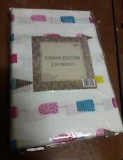 Designer standard microfiber pillowcase set 2 sweet ice cream cute white
