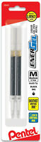 Pentel EnerGel Liquid Gel Pen Refills Black Ink Medium Needle Tip 0.7mm 2pk LRN7