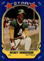 1981 FLEER STAR STICKERS #54 RICKEY HENDERSON