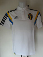 SWEDEN FOOTBALL S/S WHITE POLO SHIRT BY ADIDAS SIZE ADULTS XXL BRAND NEW