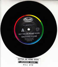 "CROWDED HOUSE  Better Be Home Soon 7"" 45 rpm vinyl record + juke box title strip"