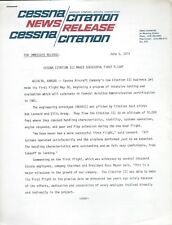 Cessna Citation II III - Press Releases - Specifications 1979 - 3 items (B537)