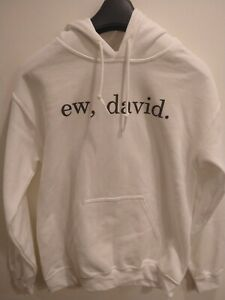 Schitts Creek EW, DAVID. White Hoodie Cotton Small Adult Rose Alexis Sweatshirt